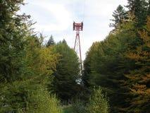 De herfst bij de berg stock foto