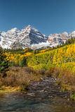 De herfst bij de Kastanjebruine Klokken Stock Afbeeldingen