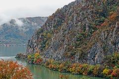 De herfst bij de Kloven van Donau Royalty-vrije Stock Fotografie