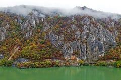 De herfst bij de Kloven van Donau Stock Afbeelding
