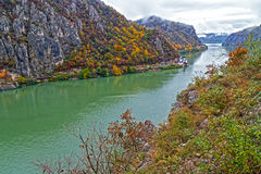 De herfst bij de Kloven van Donau Royalty-vrije Stock Foto's