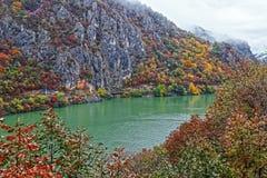 De herfst bij de Kloven van Donau Stock Foto