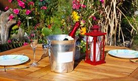 De herfst bij de tuinvijver Royalty-vrije Stock Foto