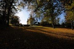 De herfst bij Ekenäs Kasteel, Zweden Stock Afbeeldingen