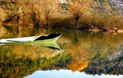 De herfst bij het meer Stock Afbeelding