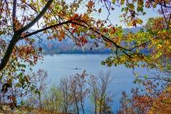 """De herfst bij het Meer """" Pancharevo """" aan Sofia, Bulgarije stock afbeelding"""