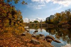 De herfst bij het Park van het Eiland van de Prins royalty-vrije stock fotografie