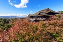 De herfst bij kiyomizu-Beste, Kyoto Stock Foto