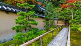 De herfst bij koto-binnen in Kyoto, Japa Royalty-vrije Stock Foto