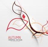 De herfst bloemen minimale achtergrond Stock Afbeelding
