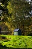 De herfst, bomen en water Stock Foto