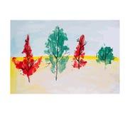 De herfst bos, vectorillustratie Royalty-vrije Stock Foto