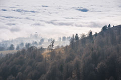 De herfst boven de wolken Stock Foto's