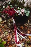 De herfst, bruids boeket, de herfstboeket, huwelijk, royalty-vrije stock afbeeldingen