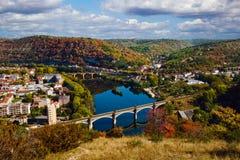 De herfst in Cahors, Frankrijk Stock Foto