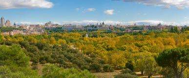 De herfst in Casa DE Campo. Madrid, Spanje Royalty-vrije Stock Afbeelding