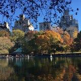 De herfst in centraal park royalty-vrije stock afbeeldingen