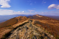 De herfst in de bergen Royalty-vrije Stock Fotografie
