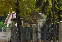 De herfst in de botanische tuin Stock Foto's