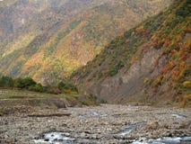 De herfst in de Kaukasus Royalty-vrije Stock Afbeelding
