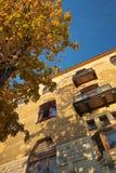 De herfst in de oude stad Royalty-vrije Stock Foto