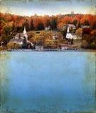 De herfst in de Provincie van de Deur op Achtergrond Grunge Royalty-vrije Stock Foto's