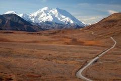 De herfst in Denali & weg om McKinley op te zetten royalty-vrije stock foto
