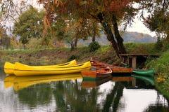 De herfst door de rivier Stock Afbeeldingen