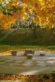 De herfst doorbladert in park BeituCheng Stock Foto's