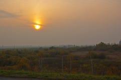 De herfst in dorp royalty-vrije stock afbeeldingen