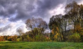 De herfst in een regionaal park van Neris van Litouwen Royalty-vrije Stock Afbeelding