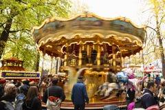 De herfst eerlijke gouden carrousel van Bazel royalty-vrije stock foto