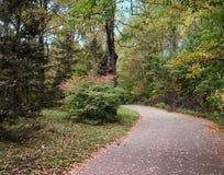 De herfst en park stock afbeeldingen