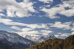 De herfst in Engadine Royalty-vrije Stock Foto's