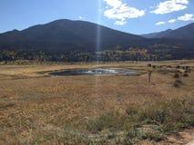 De herfst in Estes Park, Colorado Stock Afbeeldingen