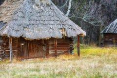 De herfst in etnisch museum Pirogovo royalty-vrije stock foto's