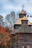De herfst in etnisch museum Pirogovo royalty-vrije stock afbeeldingen