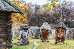 De herfst in etnisch museum Pirogovo stock foto