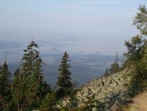 De herfst in Gegekscheerde berg, Tsjechische republiek Royalty-vrije Stock Afbeeldingen