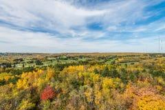 De herfst gekleurde scène Stock Afbeelding