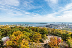 De herfst gekleurde scène Stock Foto