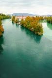 De herfst in Genève Stock Afbeelding