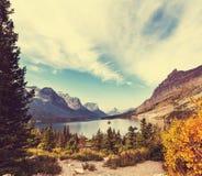 De herfst in Gletsjer Stock Afbeeldingen