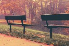 De herfst in Goldsworth-Park in Woking Royalty-vrije Stock Foto