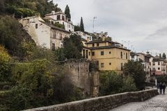 De herfst in Granada, Spanje Royalty-vrije Stock Foto