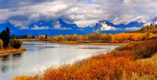 De herfst, grote telton Stock Afbeeldingen