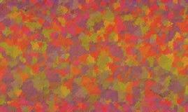 De herfst Hand het getrokken schilderen Uitstekende kwaststreken abstracte achtergrond Kunstwerk van de dalings het thema geschil stock afbeeldingen