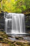De herfst in Harrison Wright Falls Stock Fotografie