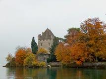 De herfst in het meer Royalty-vrije Stock Foto