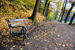 De herfst in het park maksimir in Zagreb Stock Afbeelding